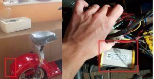 Rozdělovač na zadní světla El-ko pro elektrickou koloběžku