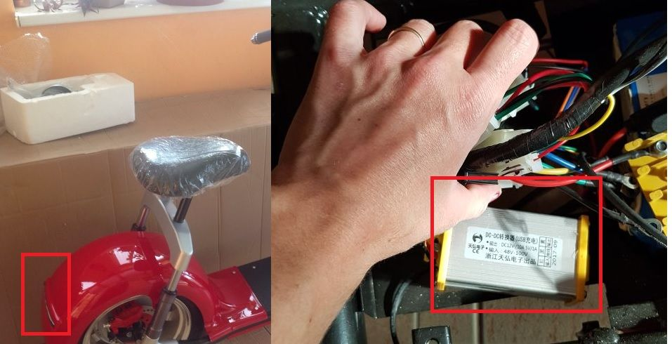 Elektrické koloběžky, elektrické tříkolky Rozdělovač na zadní světla El-ko pro elektrickou koloběžku Elektrické koloběžky, elektrické tříkolky
