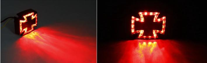 Elektrické koloběžky, elektrické tříkolky Agresivní zadní led světlo pro elektrický skútr KŘIŽ Elektrické koloběžky, elektrické tříkolky