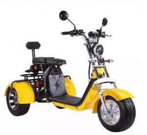 Elektrická tříkolka koloběžka 40 AH street styl city coco chrom dojezd 120 km vyndavací baterie