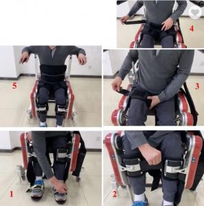 Elektrické nohy exoskelet pro chůzí ochrnuté osoby
