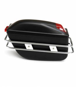 Elektrické koloběžky, elektrické tříkolky Luxusní boční boxy ze světly pro elektricky skútr Elektrické koloběžky, elektrické tříkolky