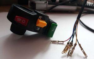 Elektrické koloběžky, elektrické tříkolky Přepínač světel, blinkru a klaksonu na elektrickou koloběžku Elektrické koloběžky, elektrické tříkolky
