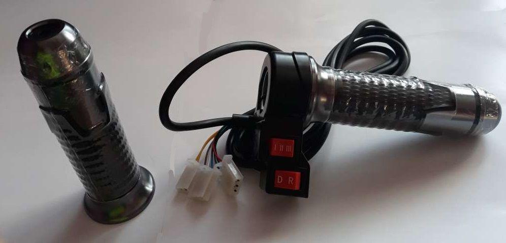 Elektrické koloběžky, elektrické tříkolky Rukojeť plynu s ložiskem a přepínáním rychlosti 1,2,3 a dopředu a dozadu na elektrickou koloběžku Elektrické koloběžky, elektrické tříkolky